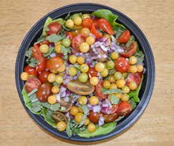 Husk Cherry Tomato Basil Salad