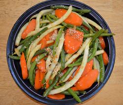 Ginger Carrots Sesame Green Beans