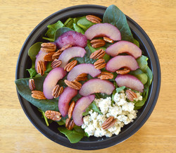 Spinach Poached Pear Salad