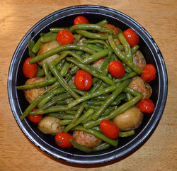 Green Beans Potatoes and Cherry Tomatoes