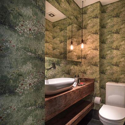 Projeto Ipiranga lavabo papel de parede