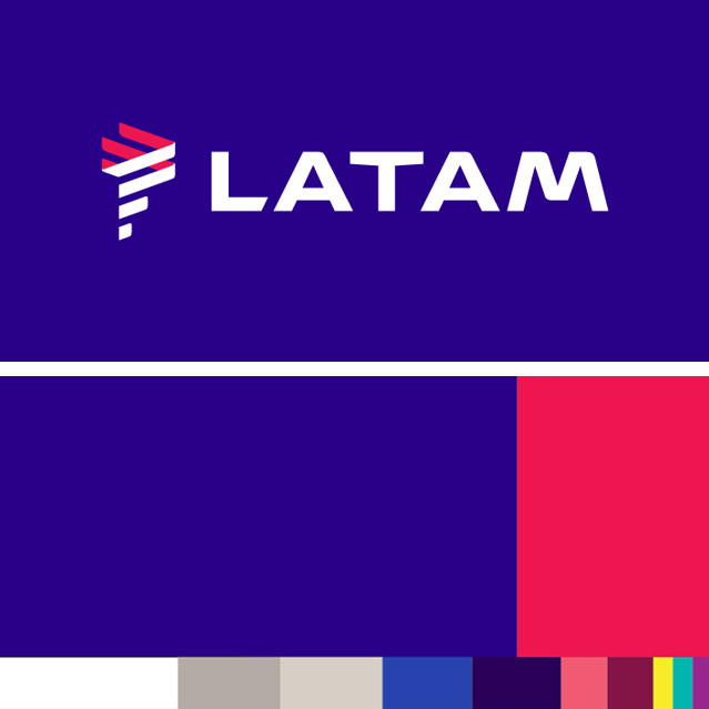 nova paleta de cores Latam