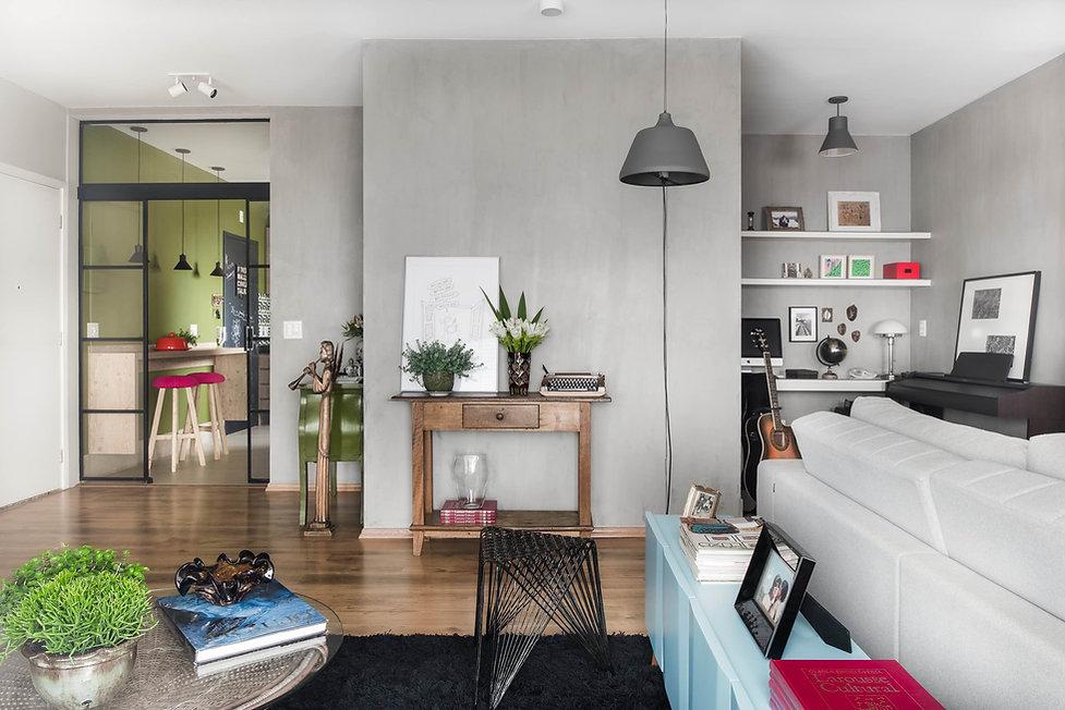 Projeto Ipiranga sala de estar e cozinha