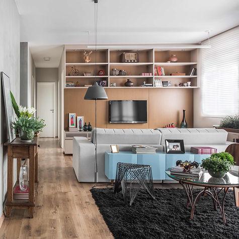 Projeto Ipiranga sala de estar e sala de