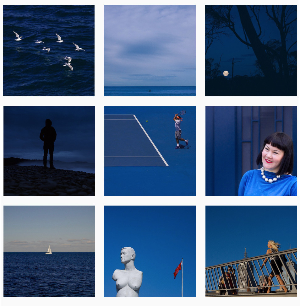 fotos cor azul pantone project