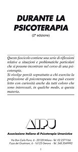 Durante la psicoterapia - Guido Grossi