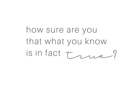 How do you know what you know?