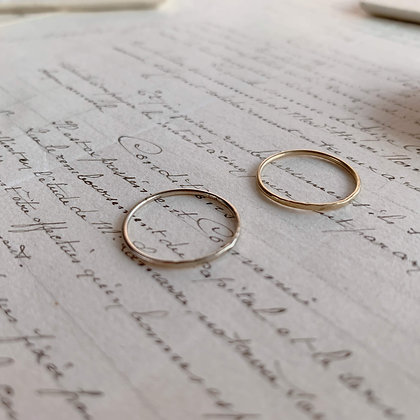 "K18 ""tsuchime"" Ring"