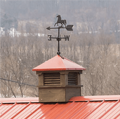 "21"" Cupola with Horse Weather Vane"