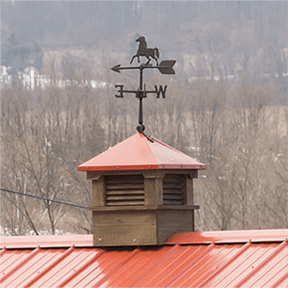 """21"""" Cupola with Horse Weather Vane"""