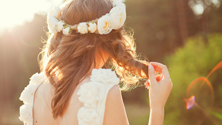 Bride with Flowers Crown