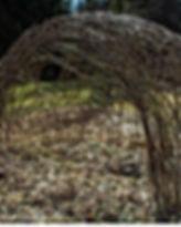 Arboretum Al Gaulhia - cabane osier vivant 2; arboretum limousin