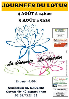 journées lotus 2018 arboretum al gaulhia en correze, limousin