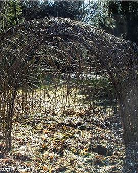 Arboretum Al Gaulhia - cabane osier vivant 1, arboretum limousin