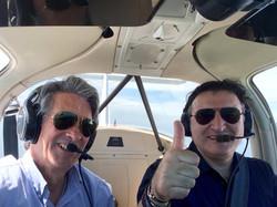 Patrice et Charles aux commandes du PA38