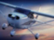 Avion Cessna 182 en vol
