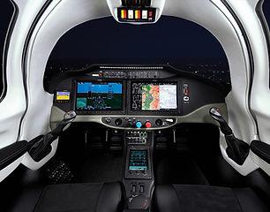Intérieur vue cockpit de l'avion Cessna Corvalis TTX