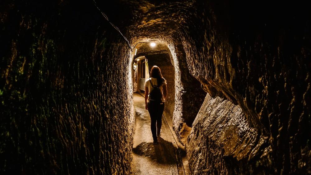 Japanese Navy Headquarters WW2 museum tunnels Naha Okinawa Japan