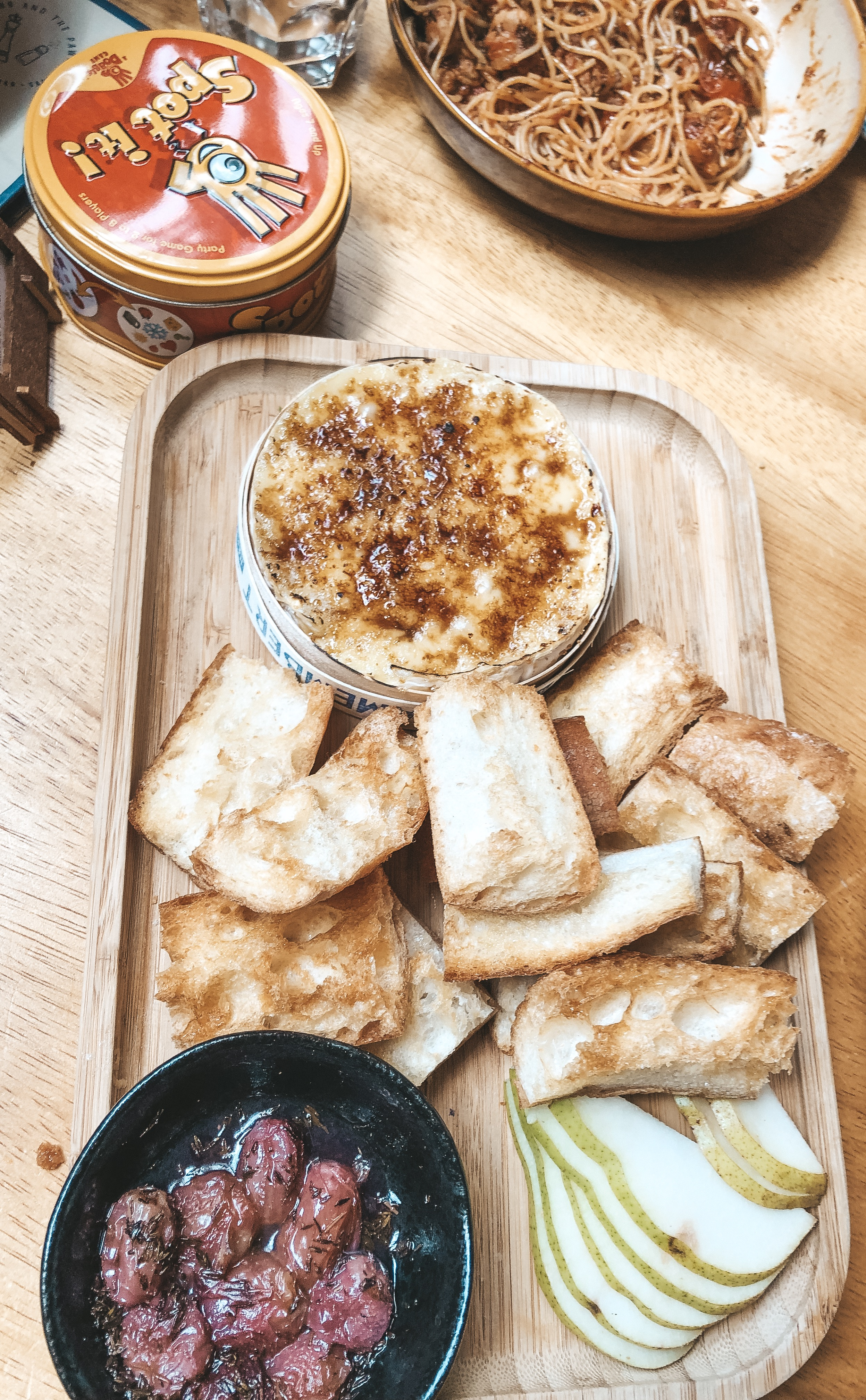 King and Prawn board game cafe Singapore Camembert Brulee