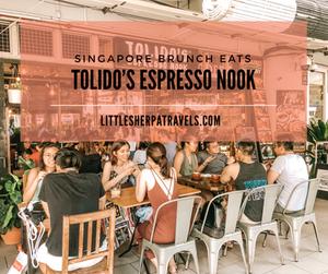 Tolido's Espresso Nook Singapore best brunch cafe restaurant food coffee