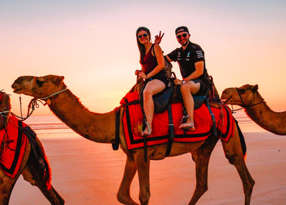 Sunset Camel Ride Cable Beach Broome