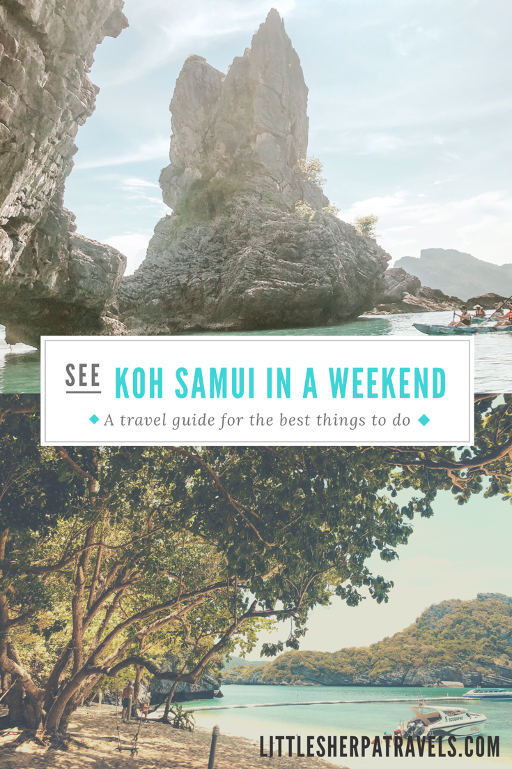 Koh Samui Thailand best things to see and do in a Weekend Ang Thong Marine Park travel guide