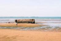 arromanches les bains beach port mulbury