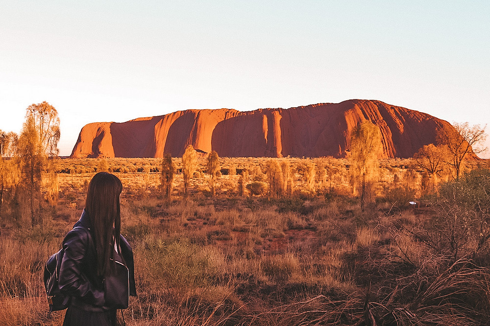 Uluru Sunrise Ayres Rock Northern Territory Australia