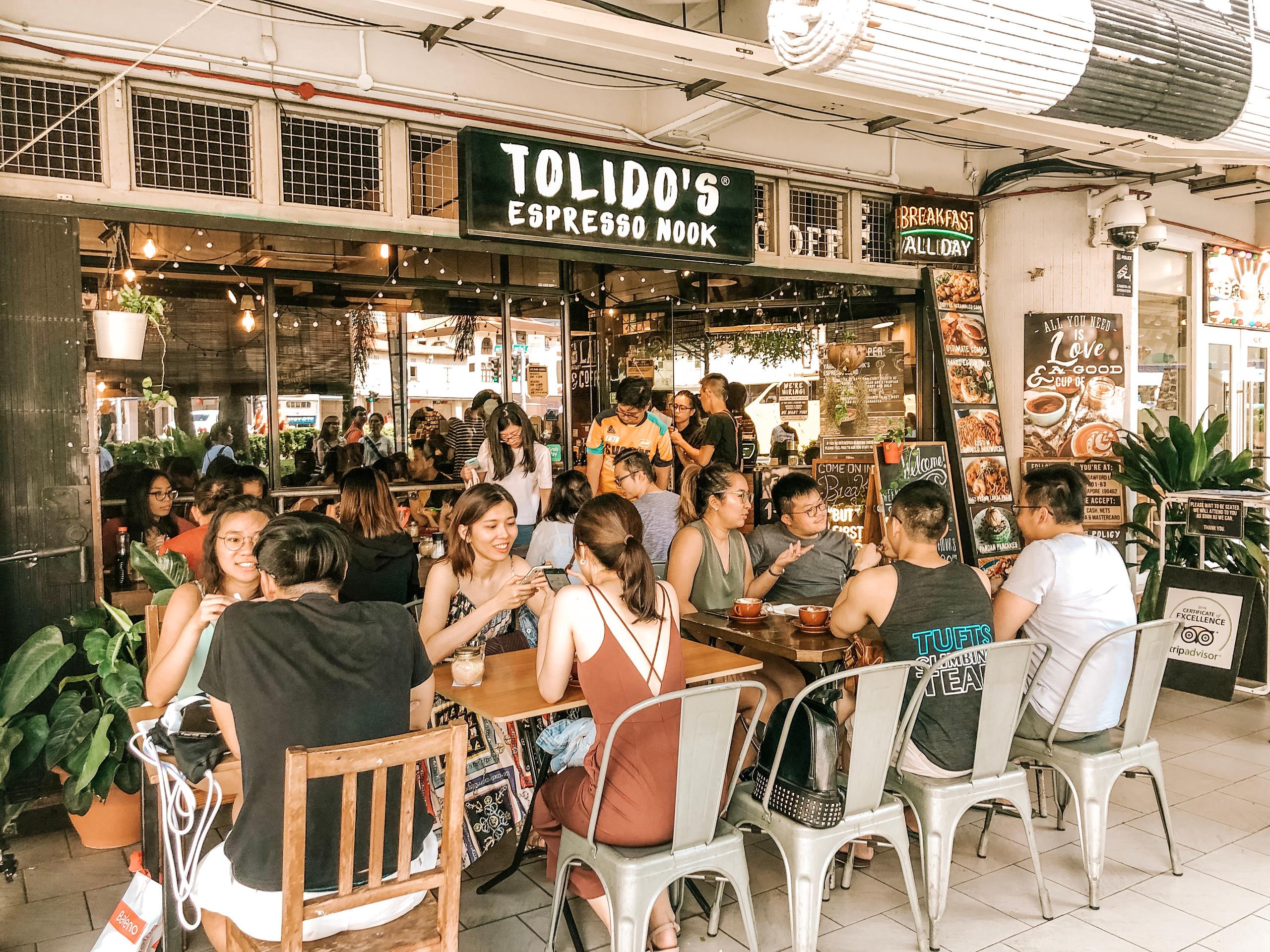 Tolido's Espresso Nook Singapore best brunch coffee