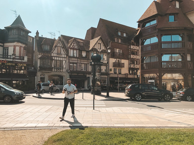 Deauville Normandy France streets
