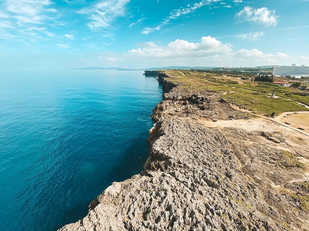 View from Cape Zanpa Lighthouse Naha Okinawa