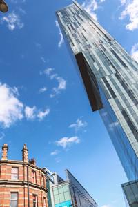 Manchester city centre modern buildings