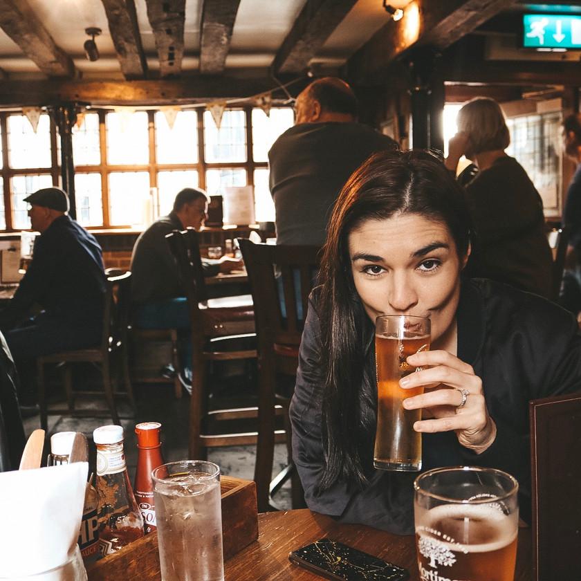 Old wellington inn pub manchester pint