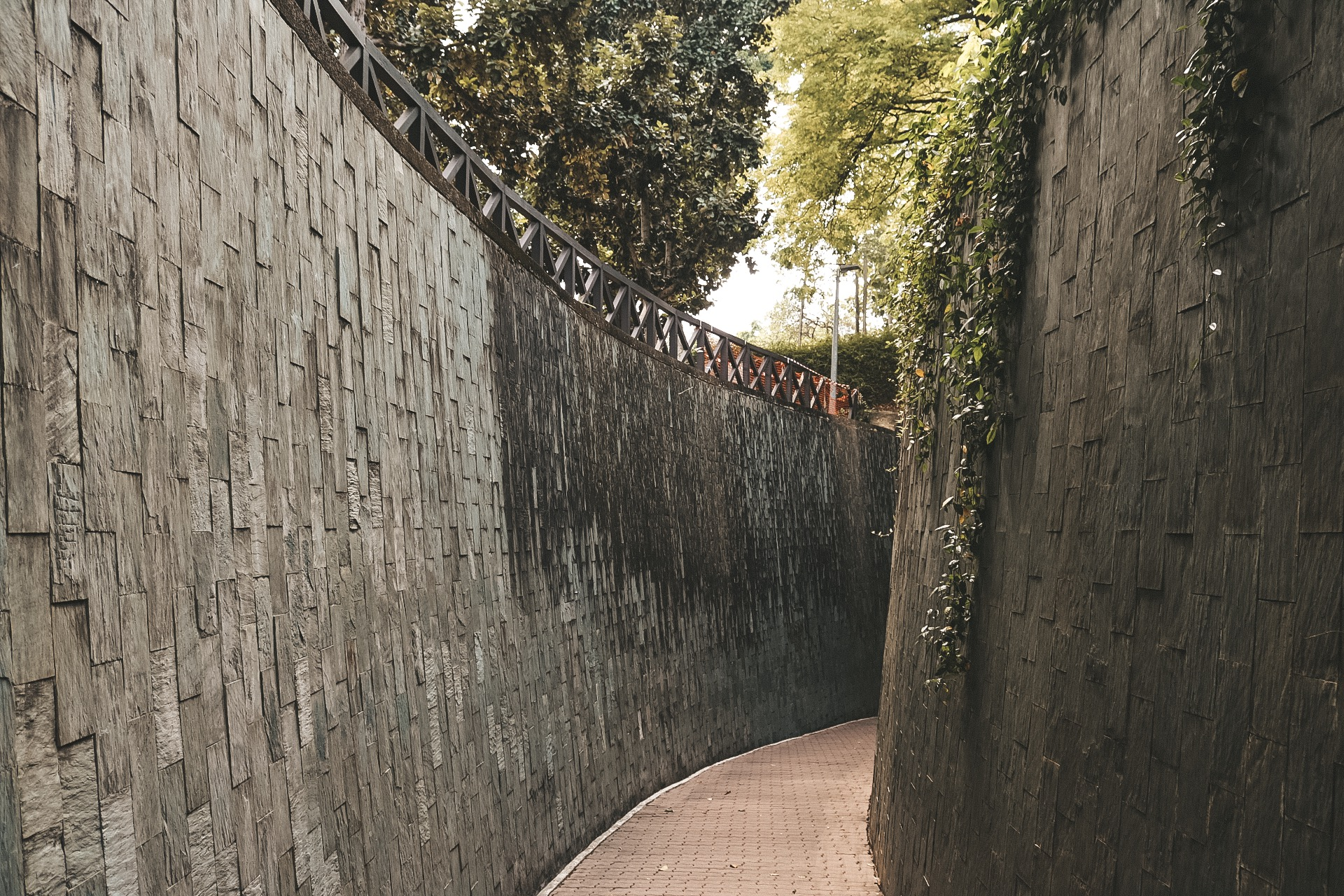 Fort canning park singapore instagram spiral staircase tunnel