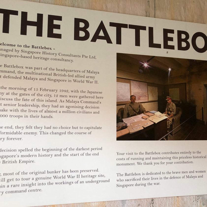 The battlebox Singapore fort canning park guide world war two history