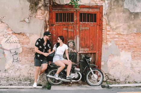 Georgetown penang street art motorcycle scooter
