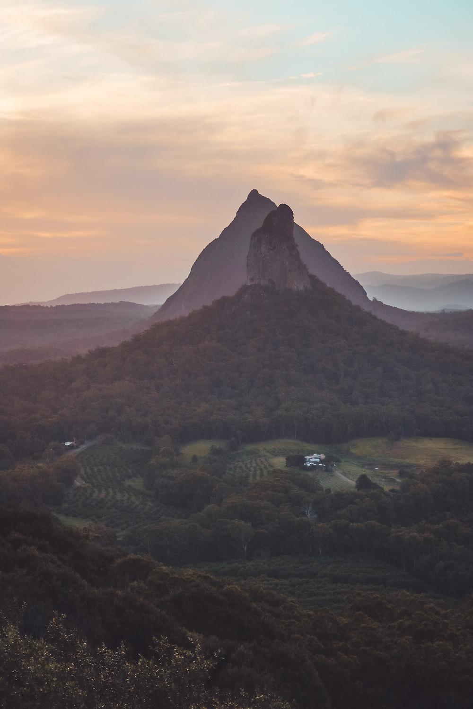 Mt Ngungun Summit View, Glass House Mountains, Sunshine Coast