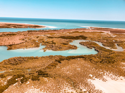 Willie Creek Western Australia areal view Broome