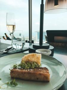 Pork Belly SKAI bar singapore champagne buffet Swissotel the stamford