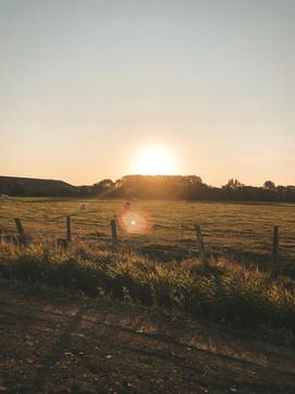 Sunset Normandy france