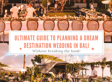 The ultimate guide to planning a destination wedding in Bali with costs included!