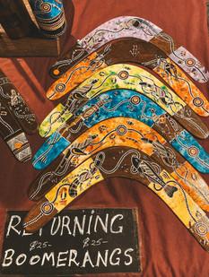 Mindil Beach night markets darwin aboriginal art boomerang
