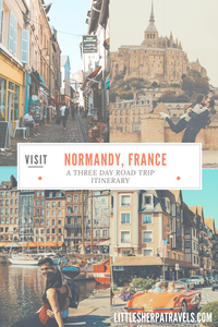 three day road trip itinerary normandy france