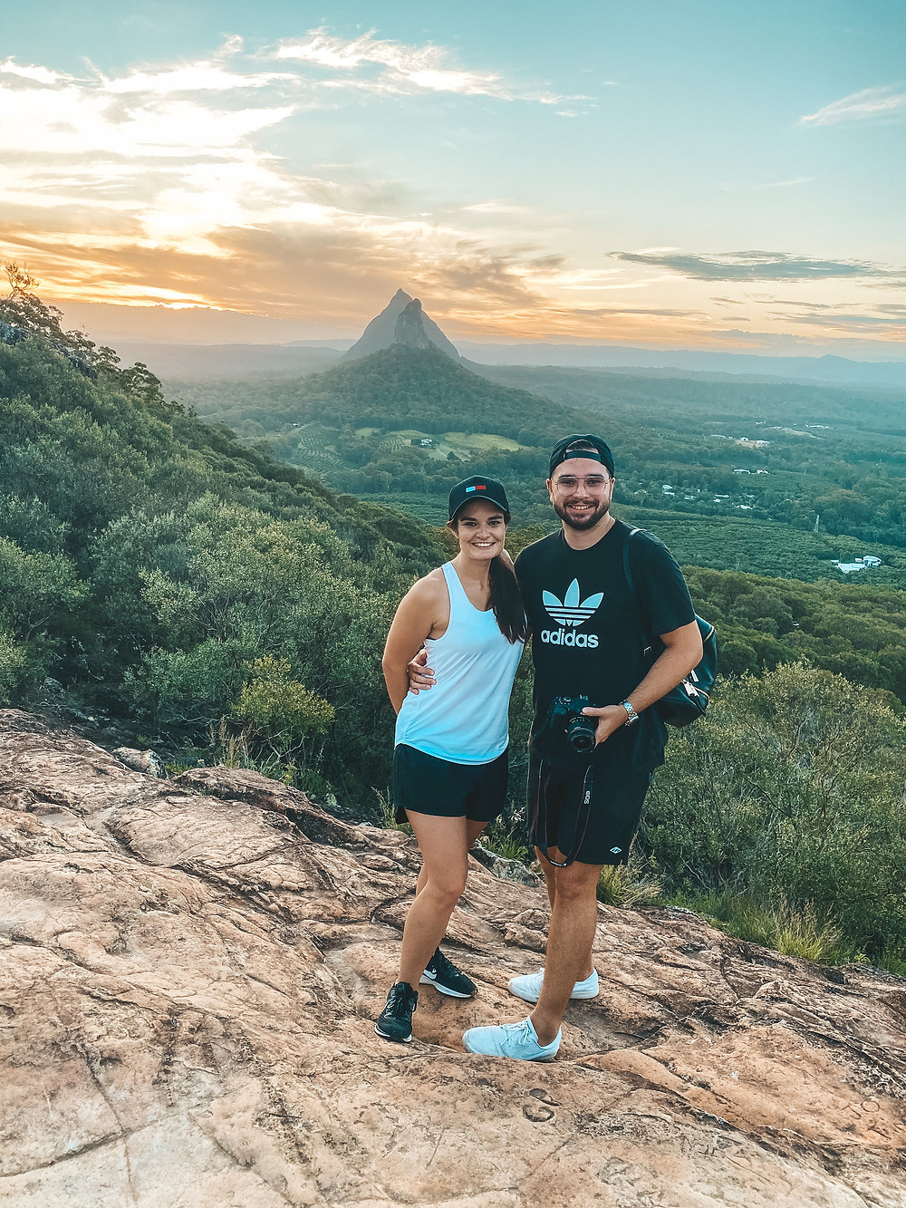 View from summit of Mount Ngungun at Sunset, Glass House Mountains