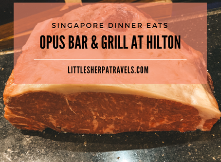 Opus Grill at Hilton Singapore: Flaming Wagyu steaks and free flow wine (for free!)