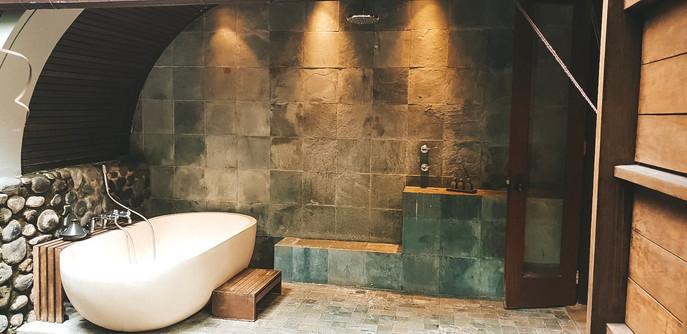 Alila Hotel Ubud where to stay travel guide bathroom