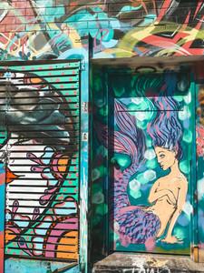 Darwin city Street art murals mermaid northern territory australia