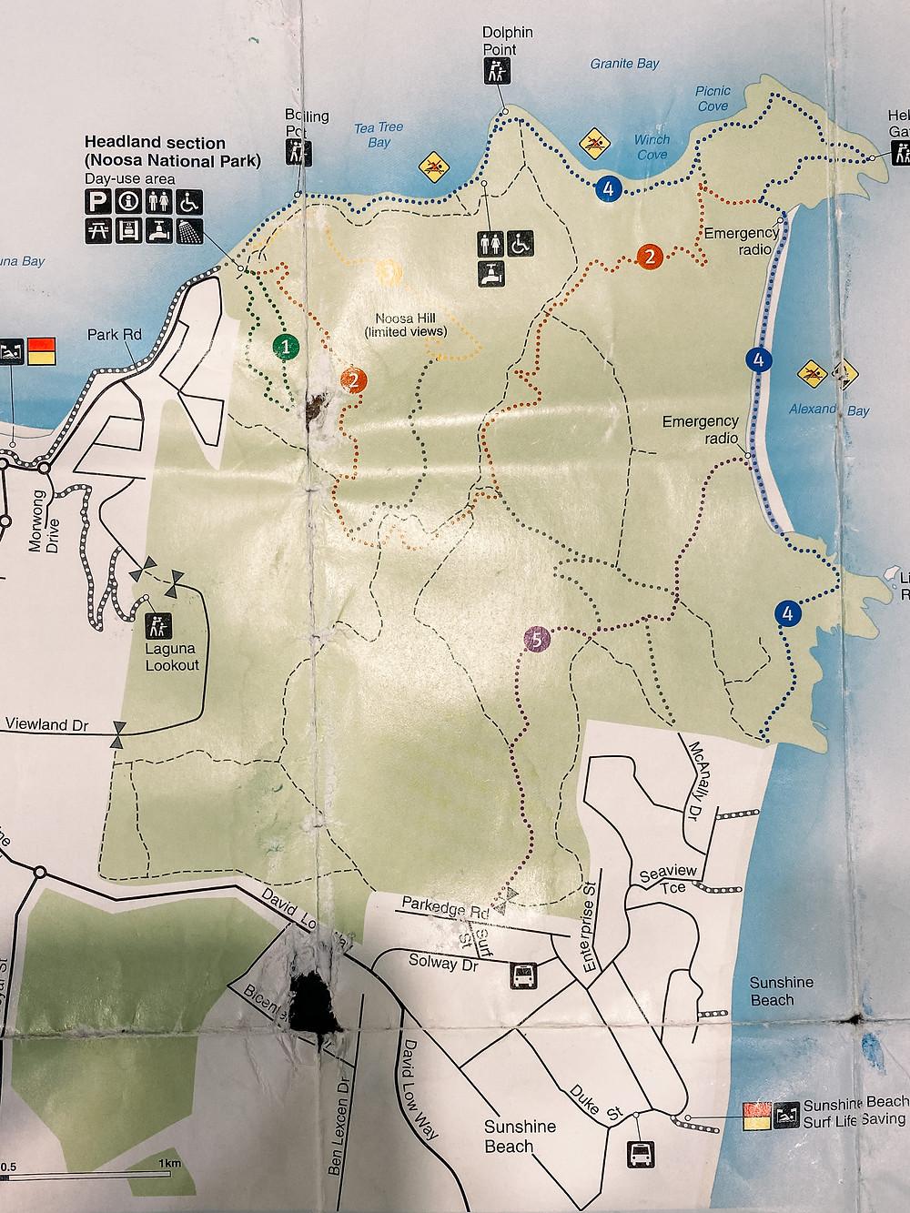 Noosa National Park Map