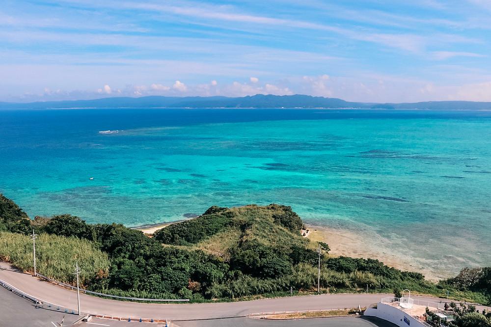 Ocean Tower view Kouri Island Okinawa