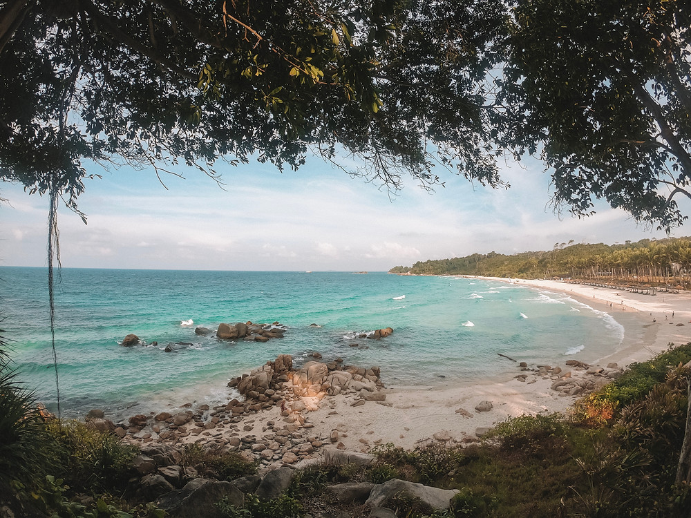 View of the beach at Club Med Bintan Indonesia